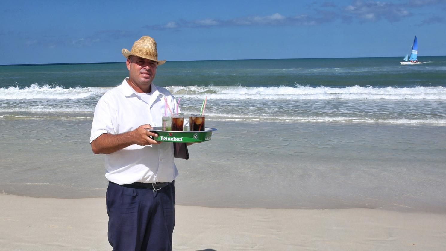 Cold drinks at Playa del Este/ Havana