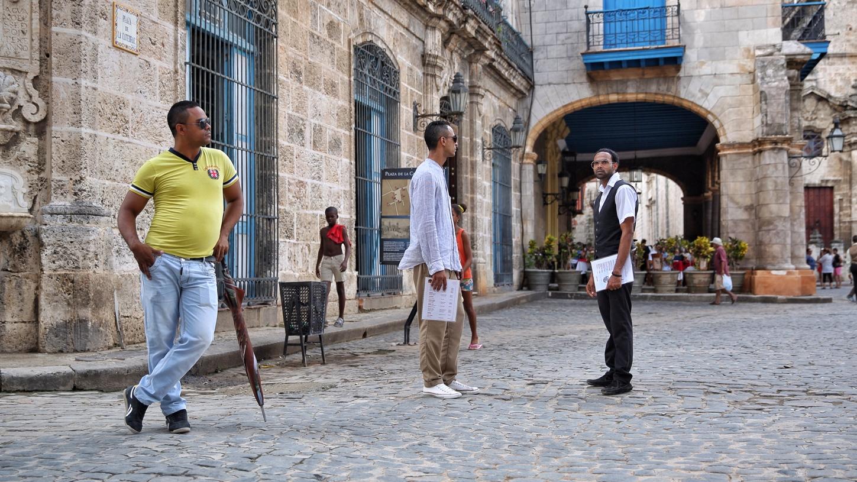 Waiters hunting clients in Havana