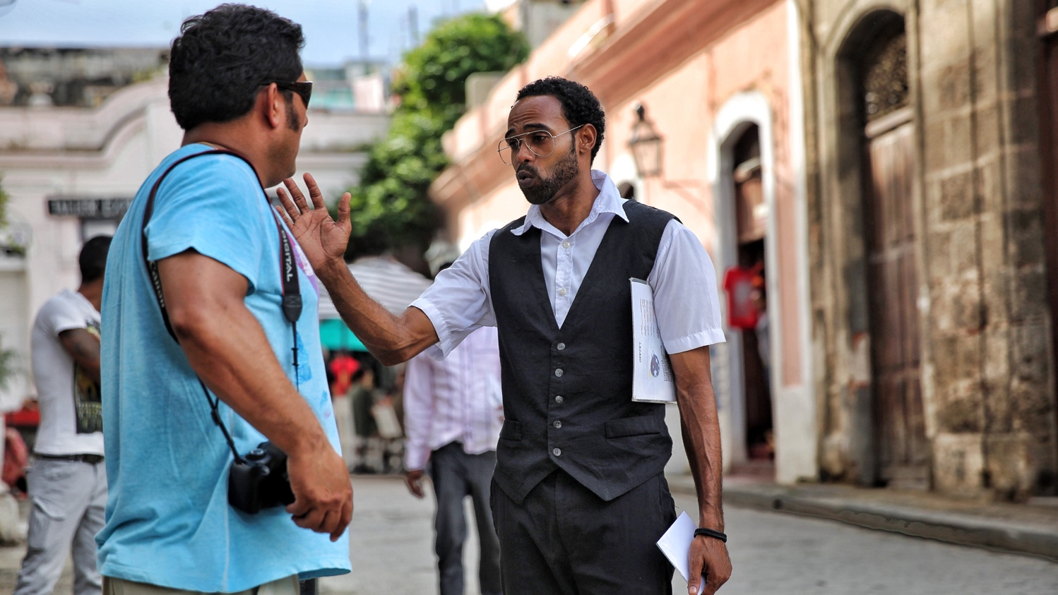 Waiters hunting clients in Havana