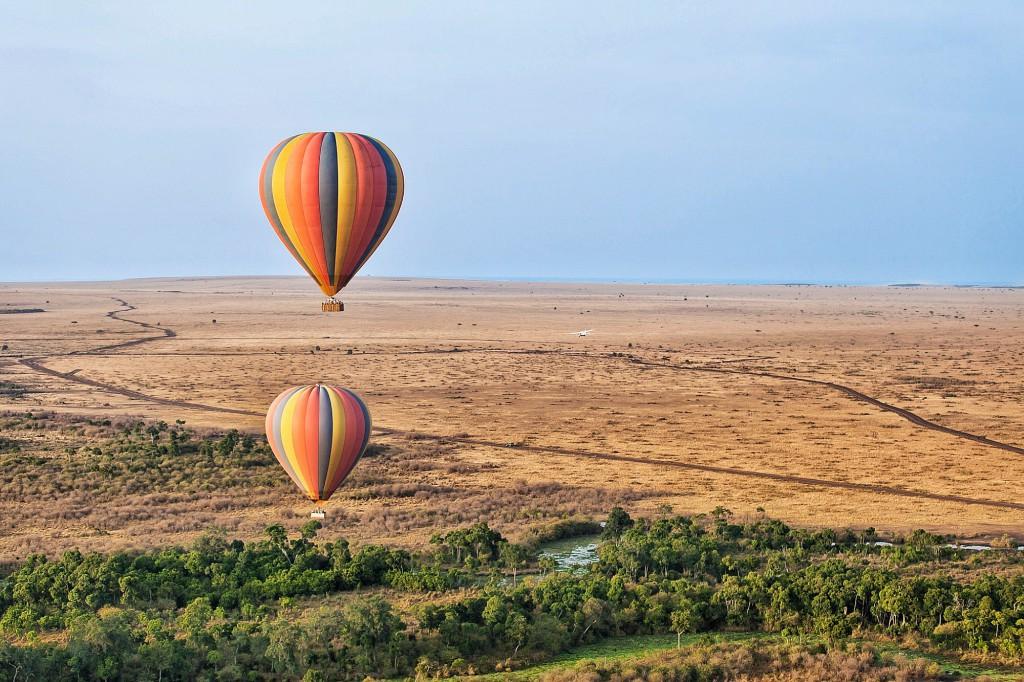 Balonem nad Serengeti