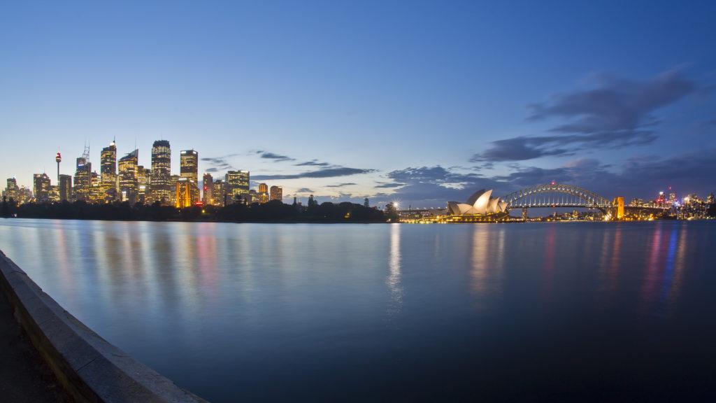 Sydney Skyline Opera House Harbour Bridge