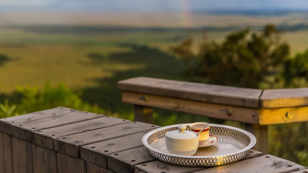 Espresso na tarasie Angama Mara