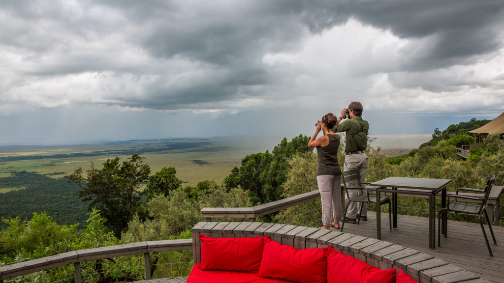 Angama Mara widok z tarasu
