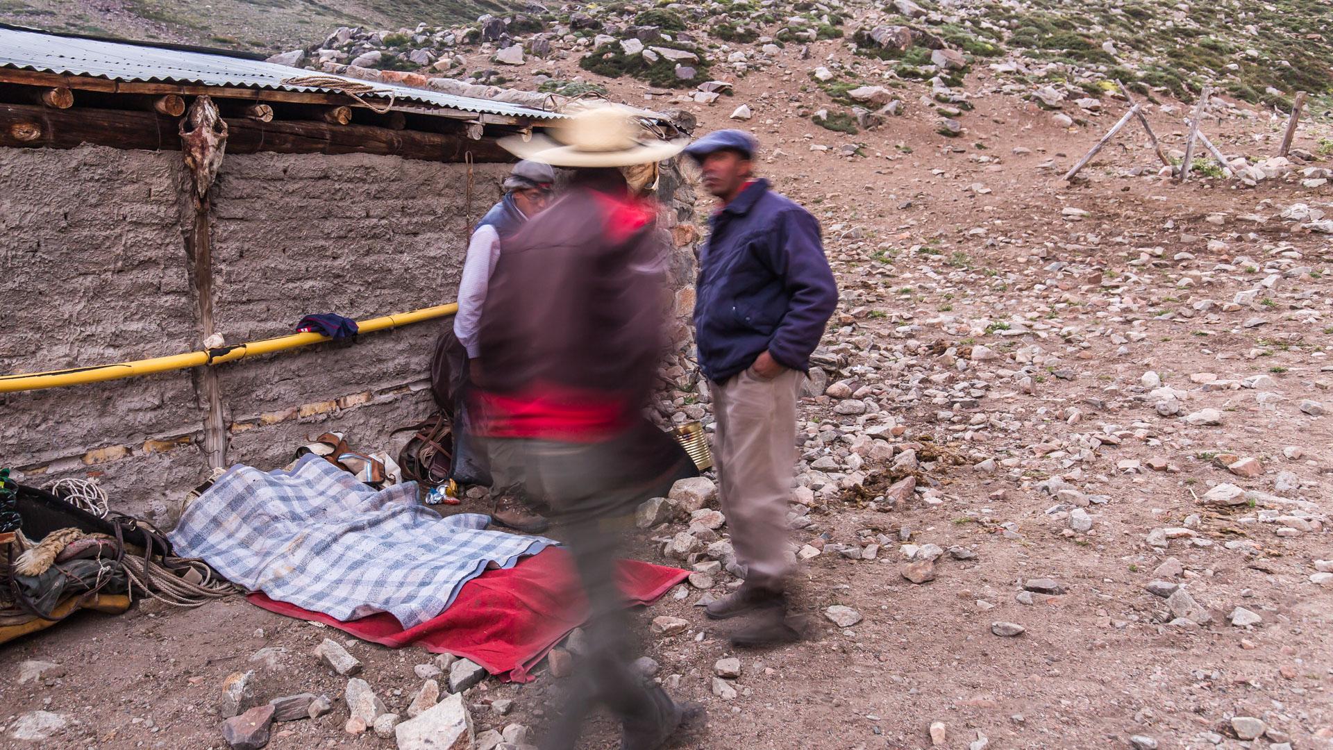 Tak śpią gauchos. Andes crossing