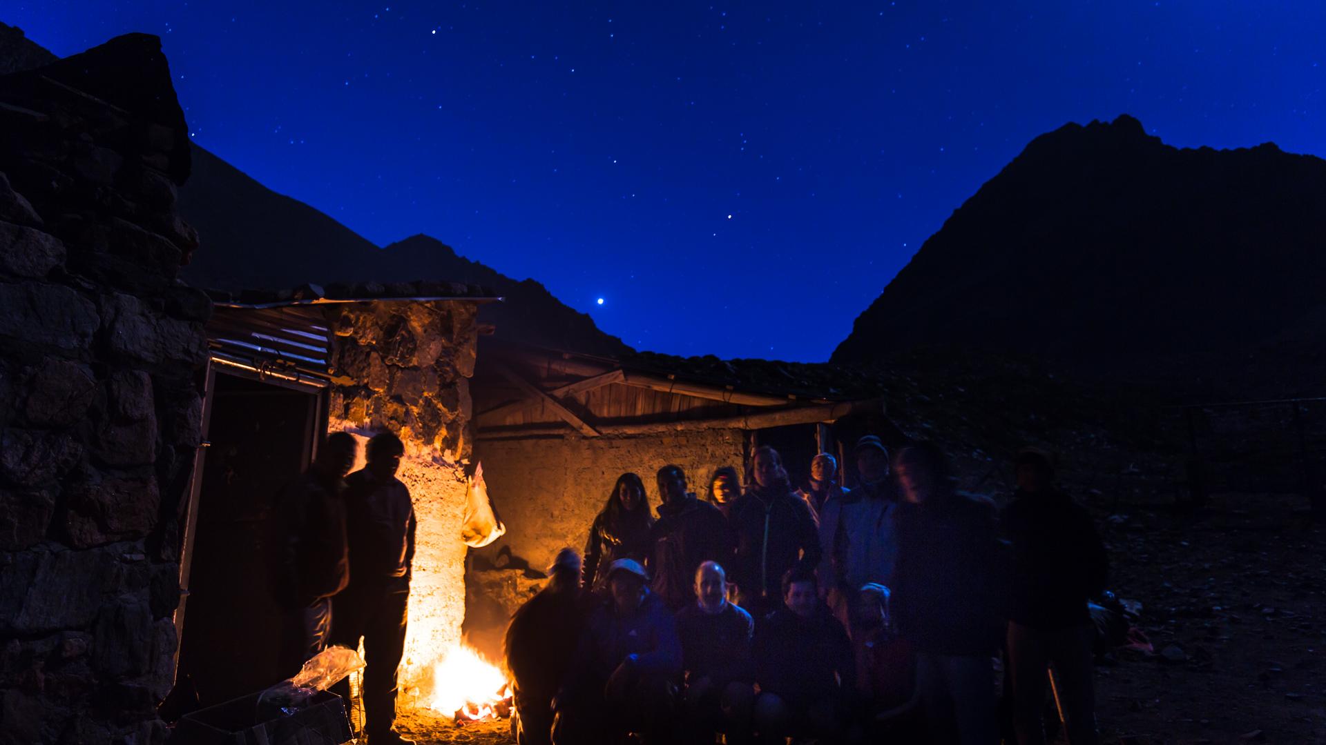Pierwszy nocleg na 3200 m n.p.m. Andes Crossing 2017