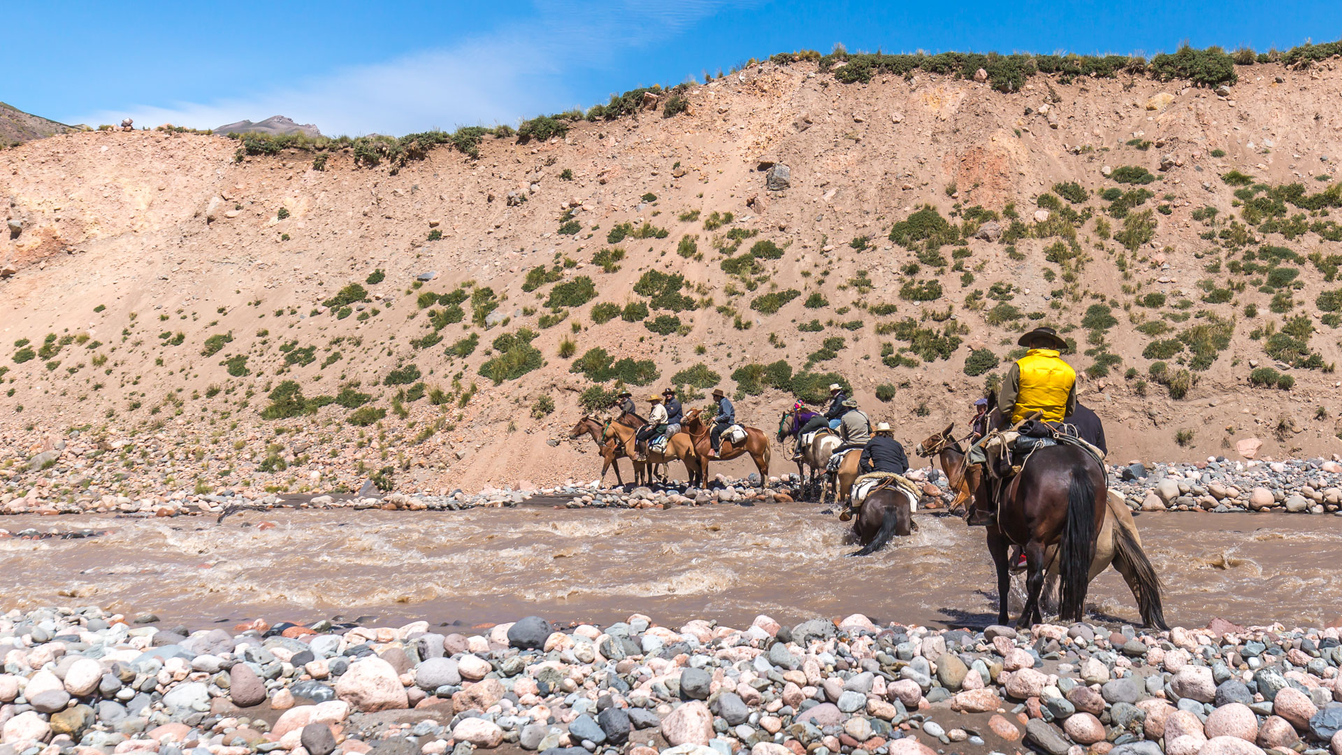 Przekraczanie rzeki Tunuyan