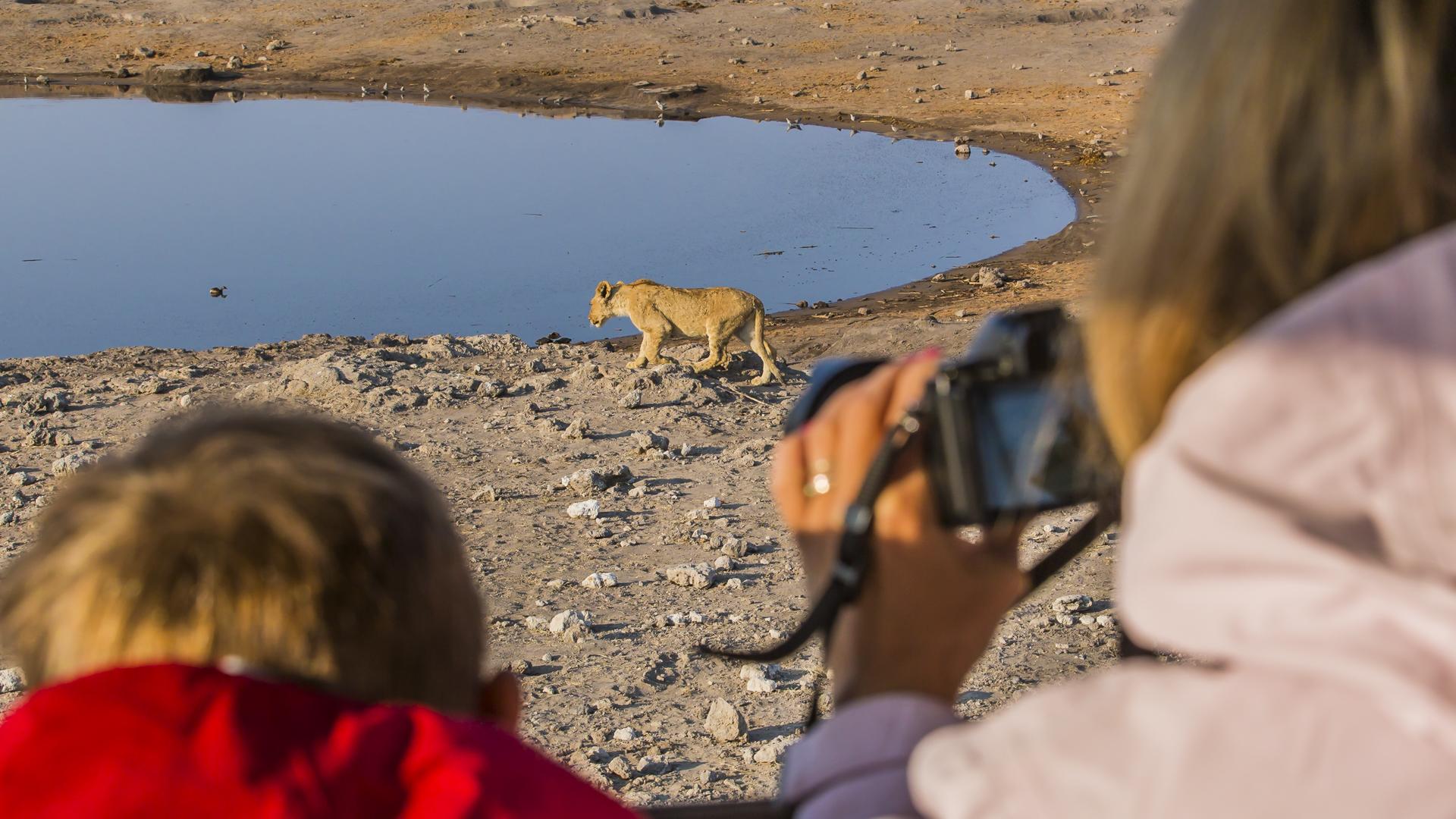 Namutoni waterhole Etosha