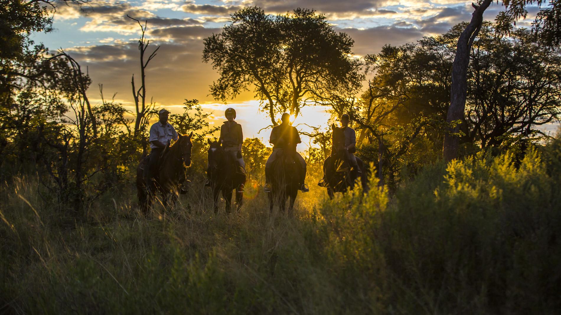 Catching sunset at African Horseback Safaris