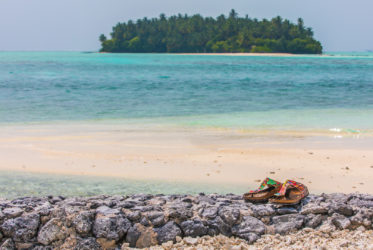 Como Maalifushi, Malediwy i widok na samotną wyspę
