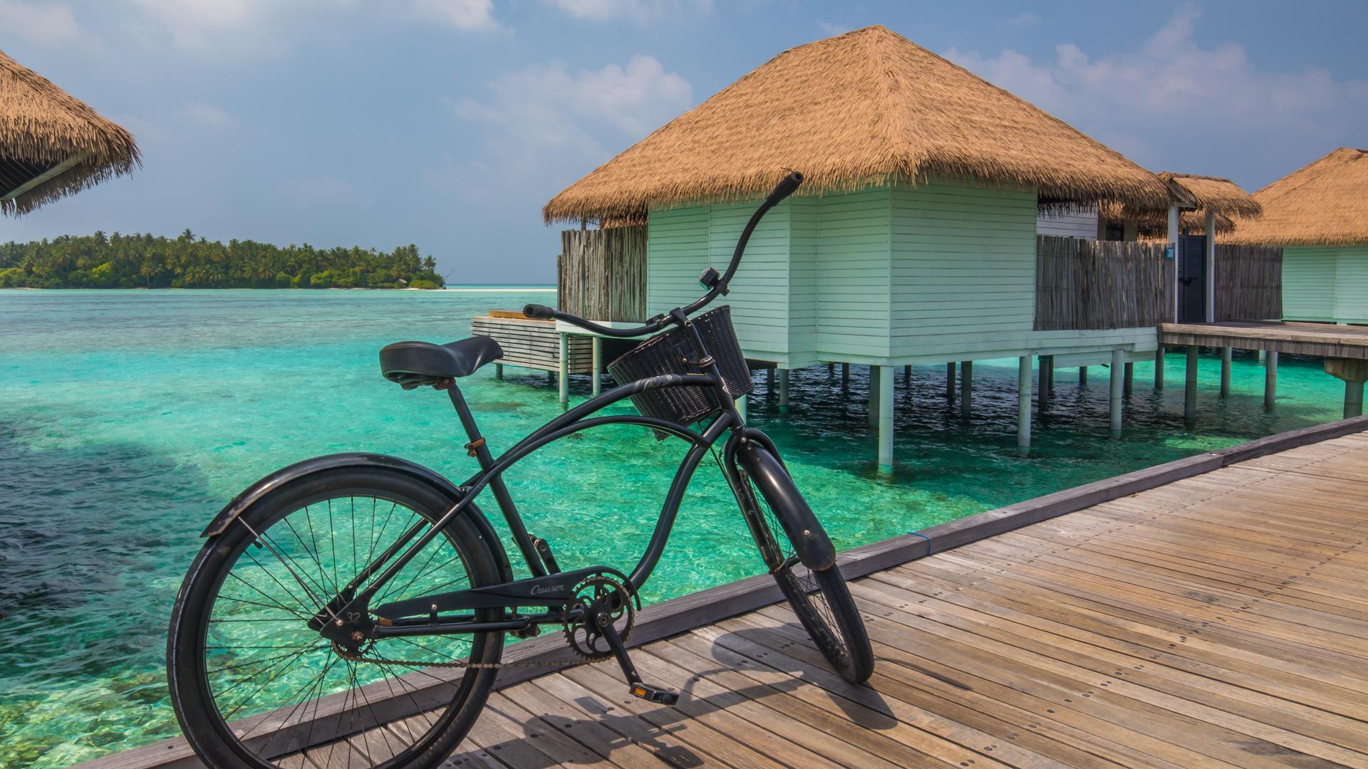 Wyspa jest na tyle duża, że rower ułatwia życie ...