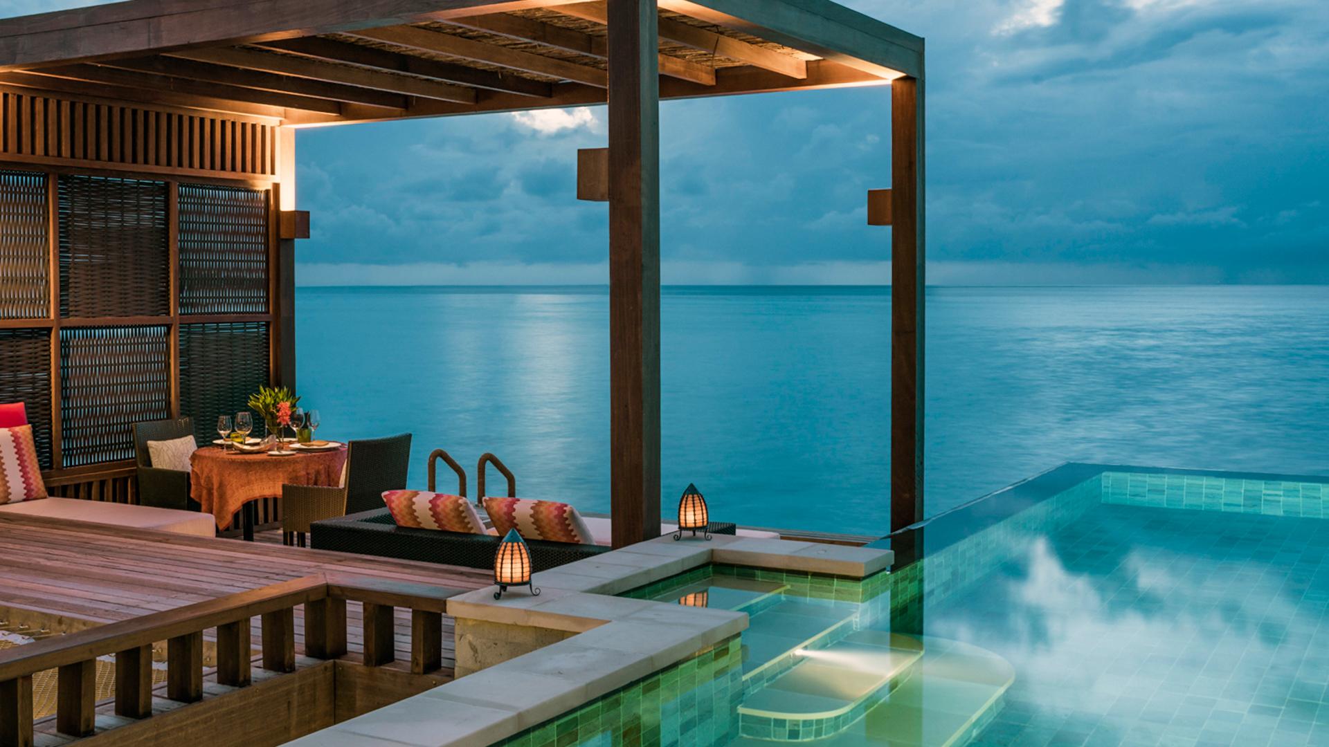 One bedroom water villa. Image courtesy to Four Seasons Kuda Huraa