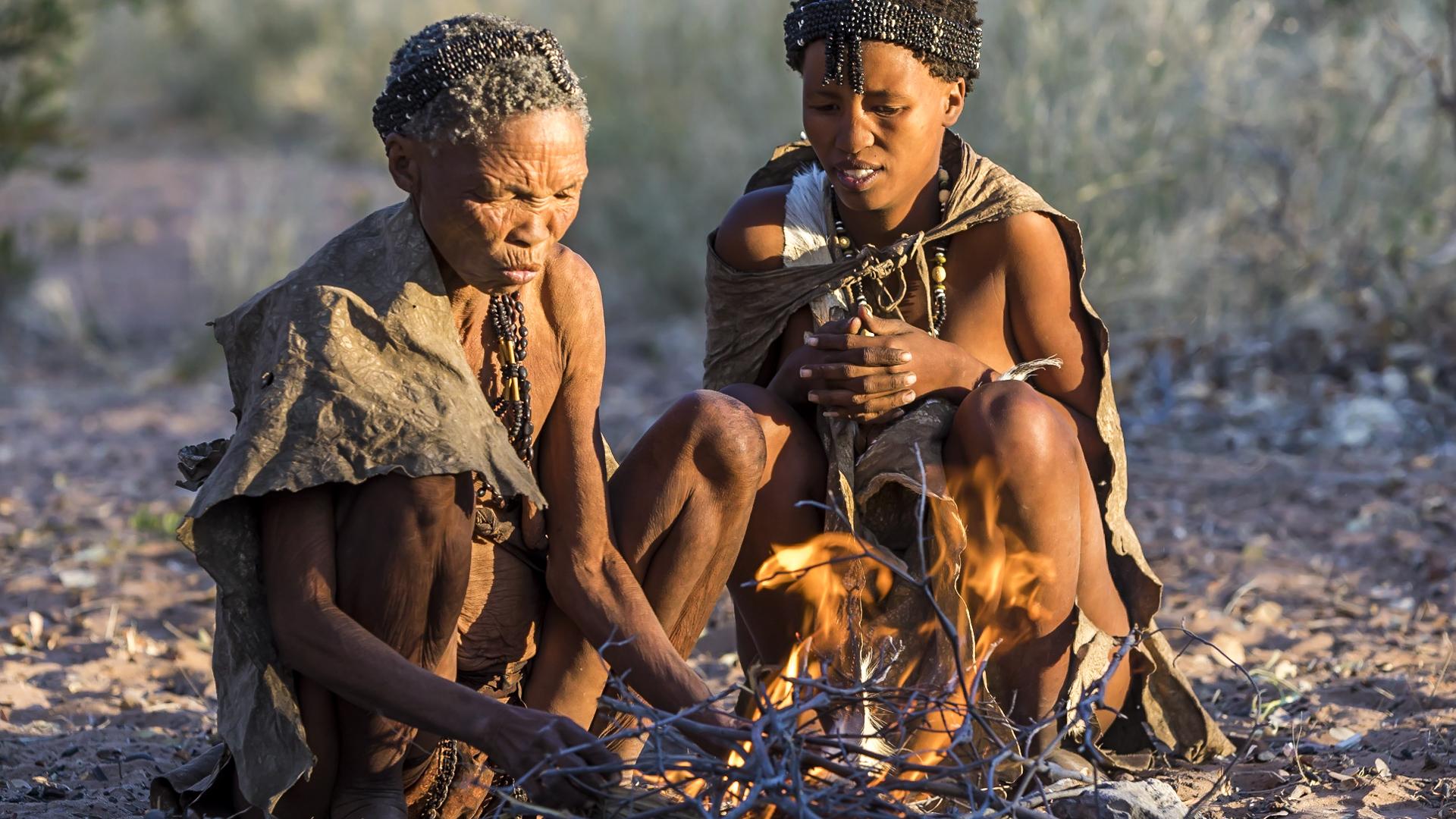 Plemię San Namibia