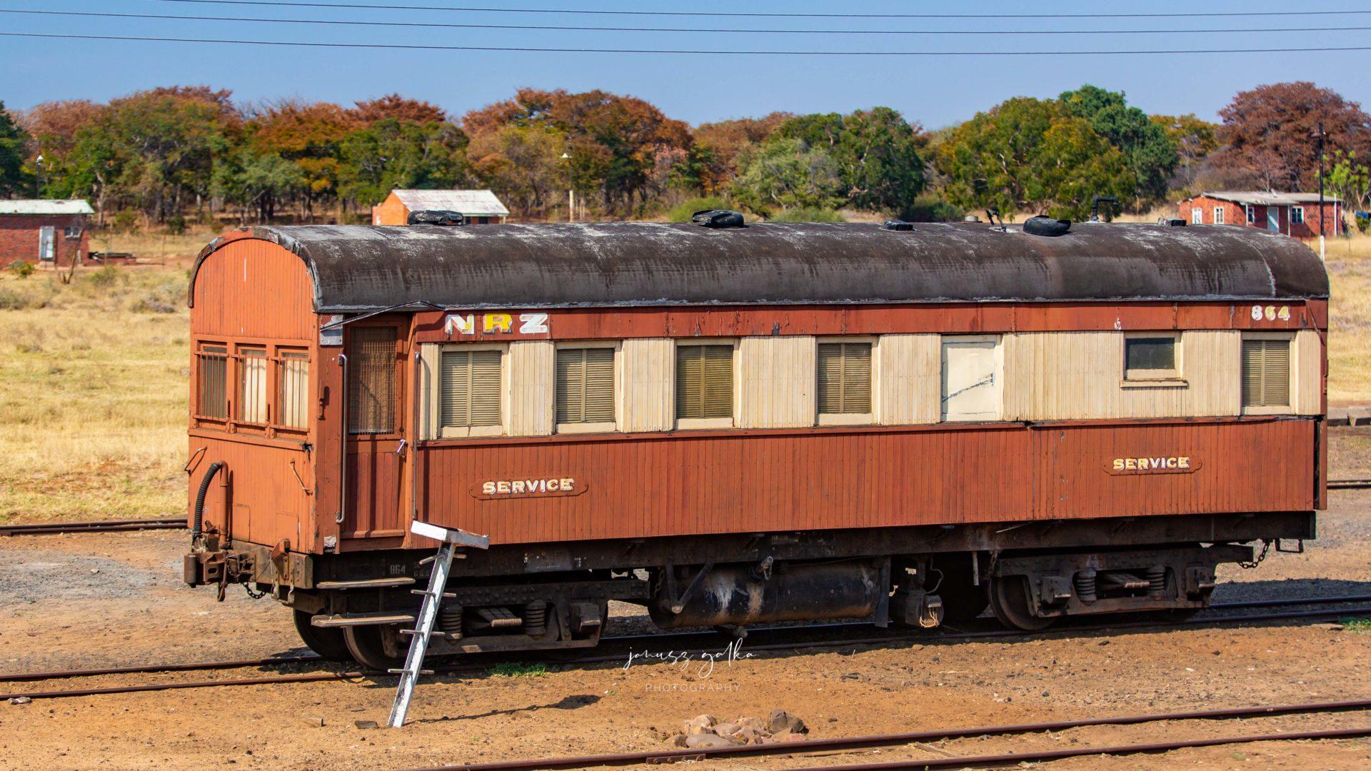 Stacja kolejowa gdzieś w Zimbabwe